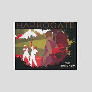 Harrogate, England; Vintage Travel 5'x7'Area Rug