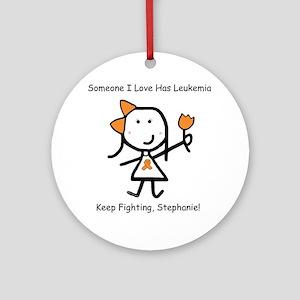 Leukemia - Stephanie Ornament (Round)