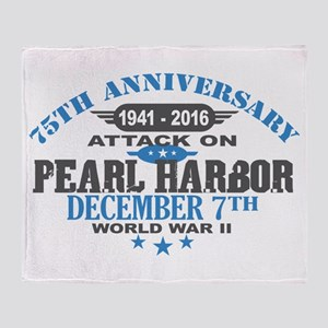 75th Anniversary attack on Pearl Harbor Throw Blan