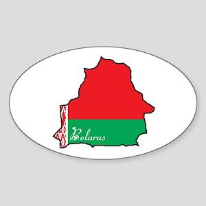 Cool Belarus Oval Sticker