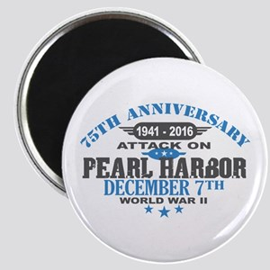 75th Anniversary attack on Pearl Harbor Magnets