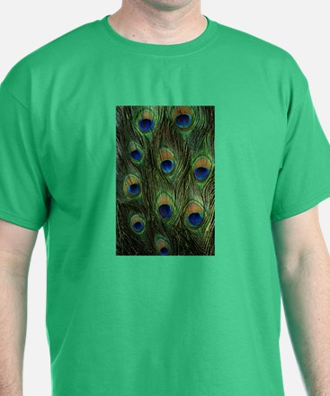 Peacock feathers on a T-Shirt