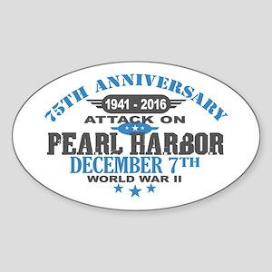 75th Anniversary attack on Pearl Harbor Sticker