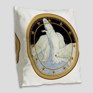 The Snow Queen Burlap Throw Pillow