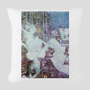 The Snow Queen Woven Throw Pillow
