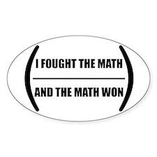 I Fought The Math Sticker