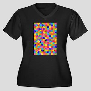 autism puzzle Plus Size T-Shirt
