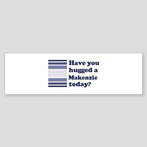 Hugged Makenzie Bumper Sticker
