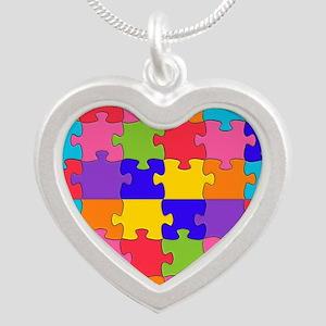 autism puzzle Necklaces