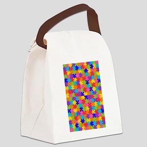 autism puzzle Canvas Lunch Bag