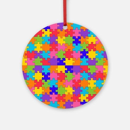 autism puzzle Round Ornament