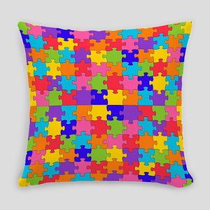 autism puzzle Everyday Pillow