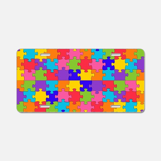 autism puzzle Aluminum License Plate