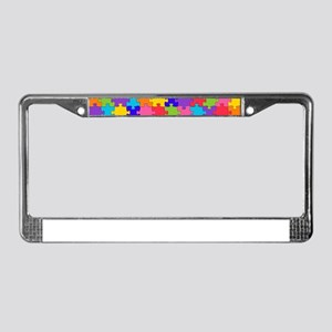 autism puzzle License Plate Frame