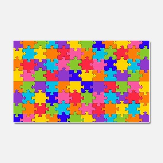 autism puzzle Car Magnet 20 x 12