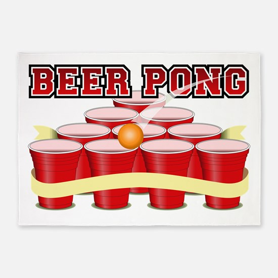 beer pong legend 5'x7'Area Rug