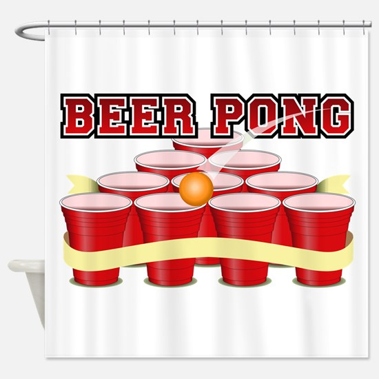 beer pong legend Shower Curtain