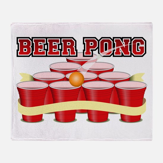 beer pong legend Throw Blanket