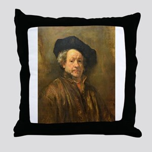 Famous Paintings: Rembrant Self Portrait Throw Pil