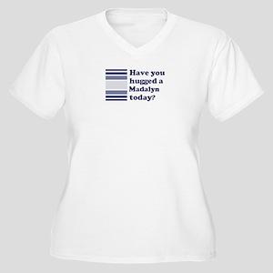 Hugged Madalyn Women's Plus Size V-Neck T-Shirt