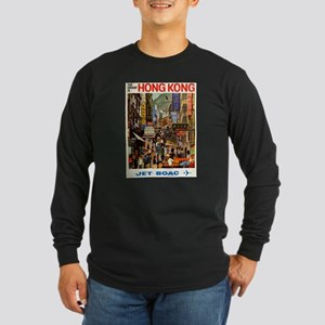 Vintage poster - Hong Kong Long Sleeve T-Shirt