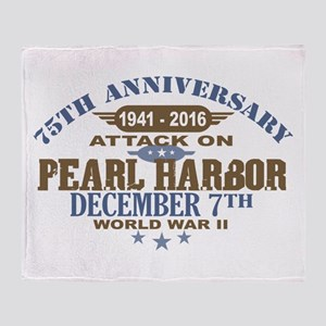 Pearl Harbor Anniversary Throw Blanket