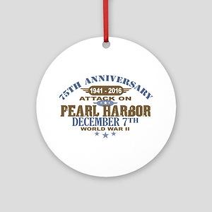 Pearl Harbor Anniversary Round Ornament