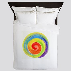 Reiki symbol no writing Queen Duvet