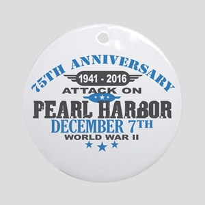 75th Anniversary attack on Pearl Harbor Round Orna