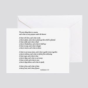 """""""To Every Thing ..."""" Greeting Cards (Pk of 20)"""