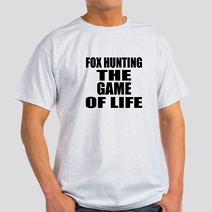 Fox Hunting The Game Of Life Light T-Shirt