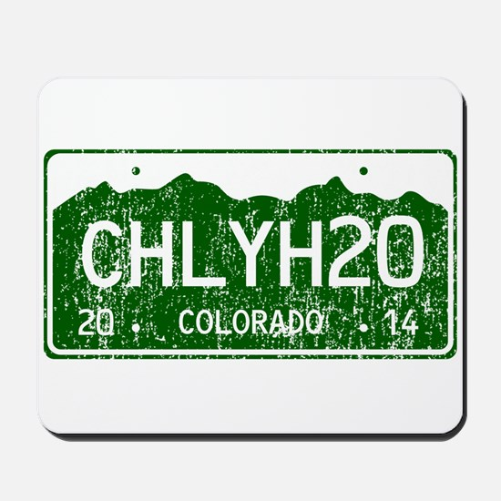 Chilly Water Colorado License Plate DIST Mousepad