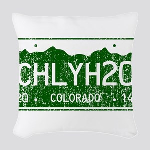 Chilly Water Colorado License Woven Throw Pillow