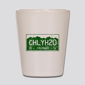 Chilly Water Colorado License Plate DIS Shot Glass