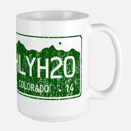 Chilly Water Colorado License Plate DIS Large Mug