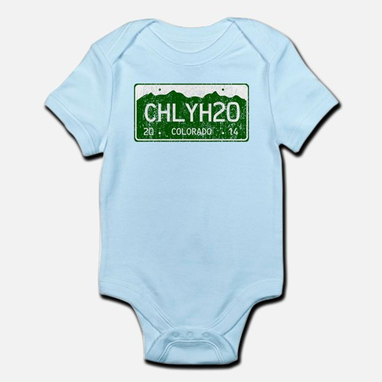 Chilly Water Colorado License Plat Infant Bodysuit
