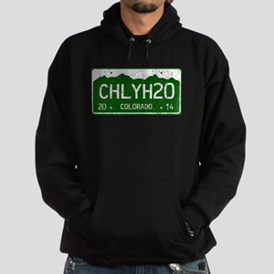 Chilly Water Colorado License Plate Hoodie (dark)