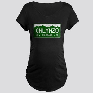Chilly Water Colorado Licen Maternity Dark T-Shirt