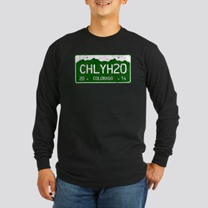 Chilly Water Colorado Lic Long Sleeve Dark T-Shirt