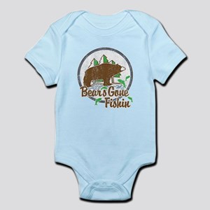Bears Gone Fishin' DISTRESSED Infant Bodysuit