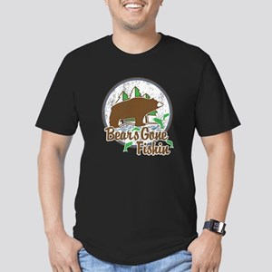 Bears Gone Fishin' DIS Men's Fitted T-Shirt (dark)