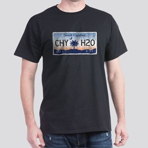 Chilly Water SC License Plate DISTRES Dark T-Shirt