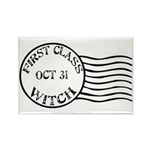 First Class Witch Halloween Rectangle Magnet (10 p