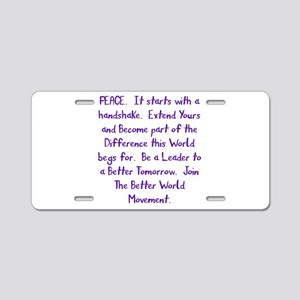 Be A Leader Aluminum License Plate