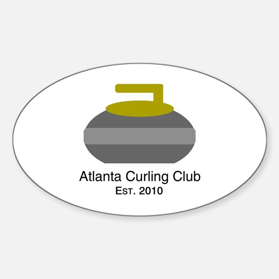 Unique Curling stone Sticker (Oval)
