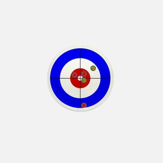 Funny Curling rocks Mini Button