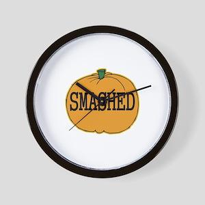 Smashed Pumpkin Wall Clock