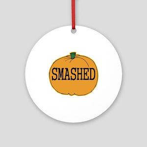 Smashed Pumpkin Ornament (Round)