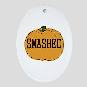 Smashed Pumpkin Oval Ornament