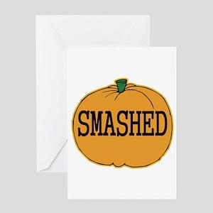 Smashed Pumpkin Greeting Card